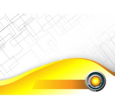 Abstract Hi tech yellow background vector image