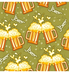 beer seamless pattern glasses of beer background vector image