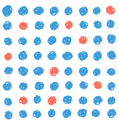 Blue and red paint dots background vector