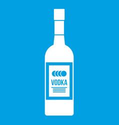 bottle of vodka icon white vector image