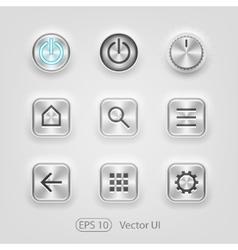 Brushed metal UI vector image