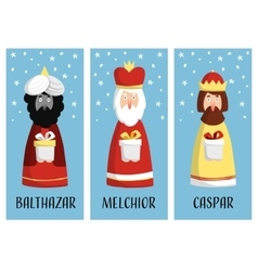 Cute set of Christmas greeting cards gift tags vector image