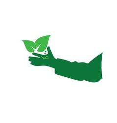 eco hand green vector image vector image