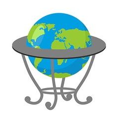 Globe on stand model of earth school geographical vector