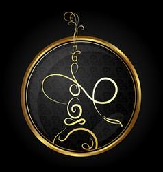 hookah golden symbol vector image