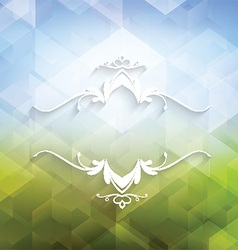 Decorative geometric background vector image vector image