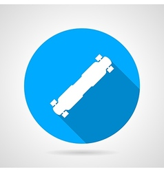 Flat icon for longboard vector image