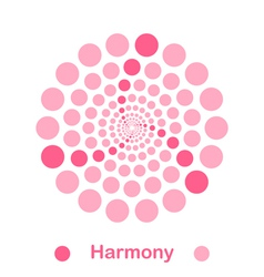 imple harmony spiral logo conception vector image vector image