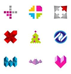 logo design elements set 45 vector image vector image