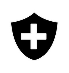 silhouette seal cross emergency security vector image