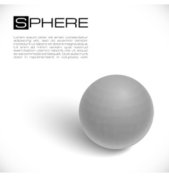3d textured sphere vector image