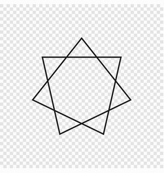 7 point classic star vector image