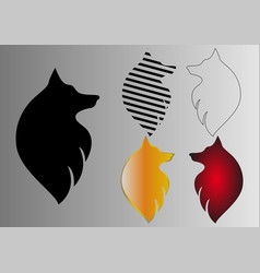 abstraction wolf head in different execution vector image