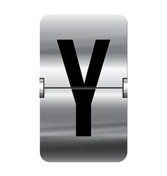 Alphabet silver flipboard letters y vector