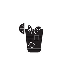 aperitif beverage black concept icon vector image