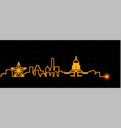 austin light streak skyline vector image