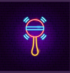 beanbag neon sign vector image