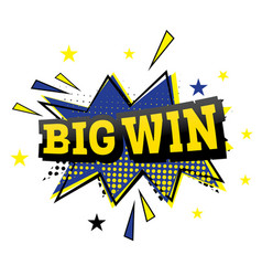 big win comic text in pop art style vector image