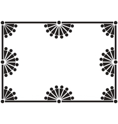 black floral frame vector image