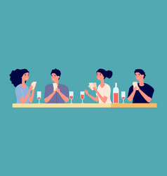 Board games concept poker tournament with friends vector
