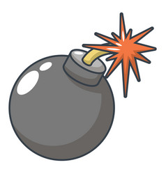 bomb icon cartoon style vector image