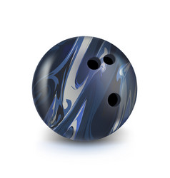 bowling blue ball isolated on white with gradient vector image