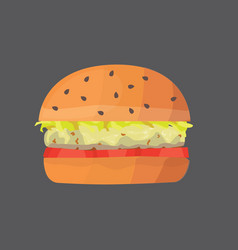 Burger cartoon fast food cheeseburger or vector