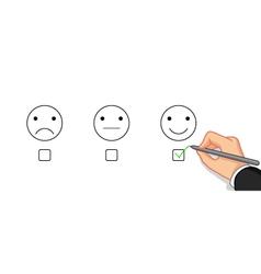 Choose emotion happy vector