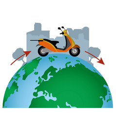 city delivery service vector image