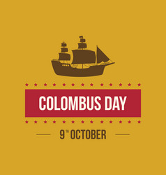 Columbus day card background design vector