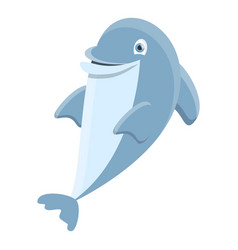 Dancing dolphin icon cartoon style vector