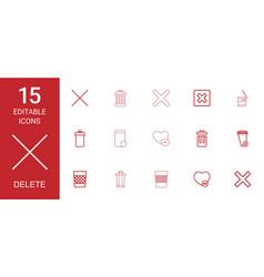 delete icons vector image