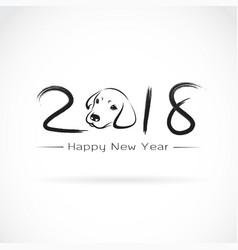 Dog 2018 new year card year vector
