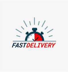 Fast delivery logo timer and fast delivery vector
