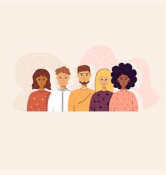 Five trendy people concept vector