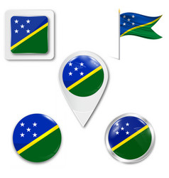 flag solomon islands over white background vector image