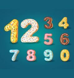 Font donuts bakery sweet alphabet alphabet vector