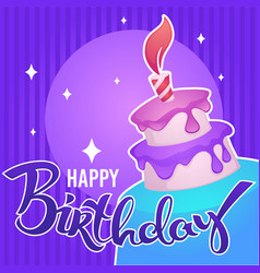 glossy and shine birthday card template with vector image