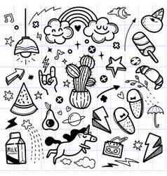 Hand drawn abstract scribble doodle vector