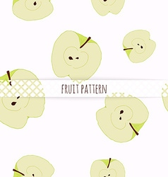 Hand drawn apples Seamless pattern vector