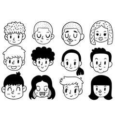 Hand drawn doodle cute funny vector