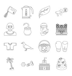 History travel education and other web icon in vector