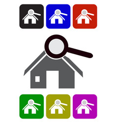 house searching icon vector image