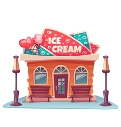 Ice cream shop building vector