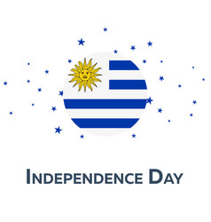 Independence day of uruguay patriotic banner vector