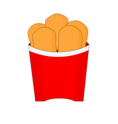 Isolated fresh chicken nuggets icon vector