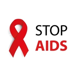 Isolated red ribbon disease awareness world aids vector