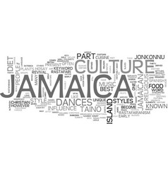 Jamaica culture text background word cloud concept vector
