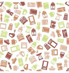 kitchen appliances and tools seamless pattern vector image