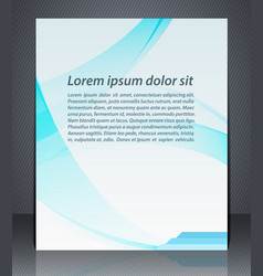 layout business brochures magazine cover or vector image